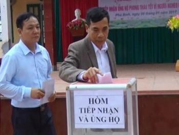 Phú Bình: Phát động ủng hộ Tết vì người nghèo năm 2017