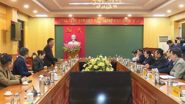 Lãnh đạo tỉnh Thái Nguyên tiếp và làm việc với nhà đầu tư