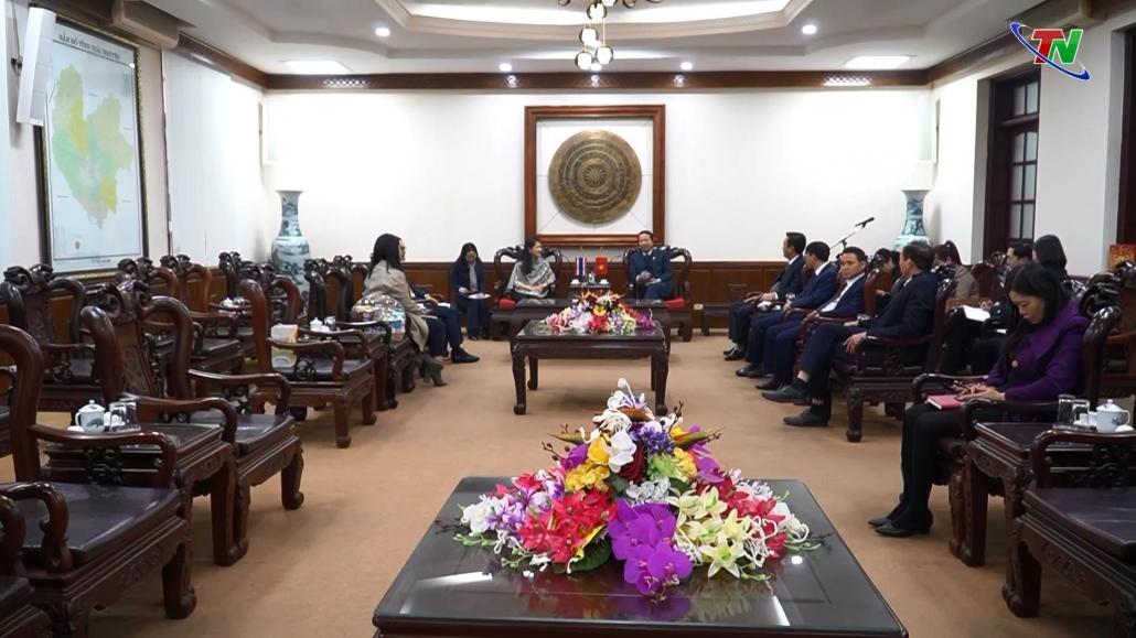 Lãnh đạo tỉnh tiếp đoàn Đại sứ quán Vương quốc Thái Lan