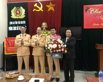 Lãnh đạo tỉnh Thái Nguyên biểu dương thành tích Phòng Cảnh sát giao thông