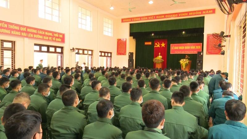 Thái Nguyên: Lễ Giao, nhận quân năm 2020 diễn ra trang trọng, ngắn gọn, an toàn