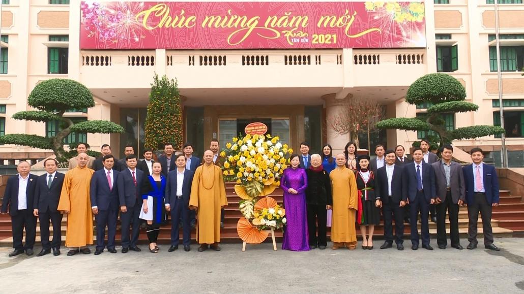 Đồng chí Bí thư Tỉnh ủy tiếp đoàn đại biểu các dân tộc, tôn giáo