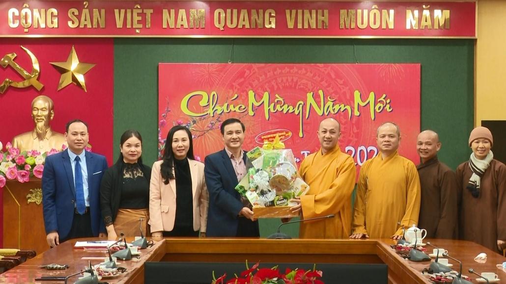 Ban Trị sự Giáo hội Phật giáo tỉnh Thái Nguyên chúc Tết các đơn vị