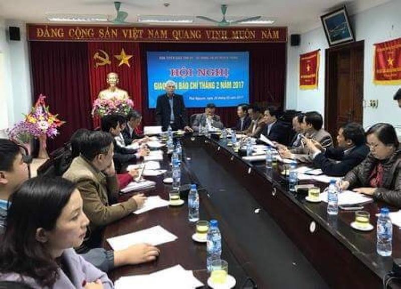 Hội nghị giao ban báo chí tháng 2 năm 2017