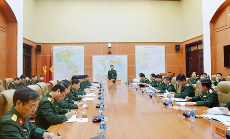 Thượng tướng Phan Văn Giang làm việc với Tổng cục Hậu cần về tổ chức, biên chế