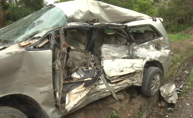 Xe tải tông xe 7 chỗ tại huyện Đồng Hỷ: Làm 1 người chết, 6 người bị thương