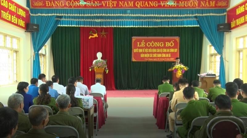 Bàn giao Công an chính quy tại 6 xã trên địa bàn thành phố Thái Nguyên