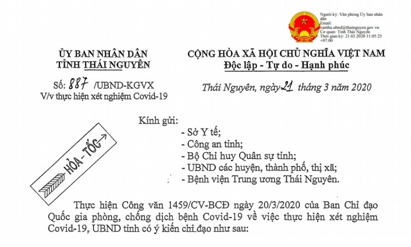 thai nguyen quan tam to chuc cach ly nguoi nhap canh