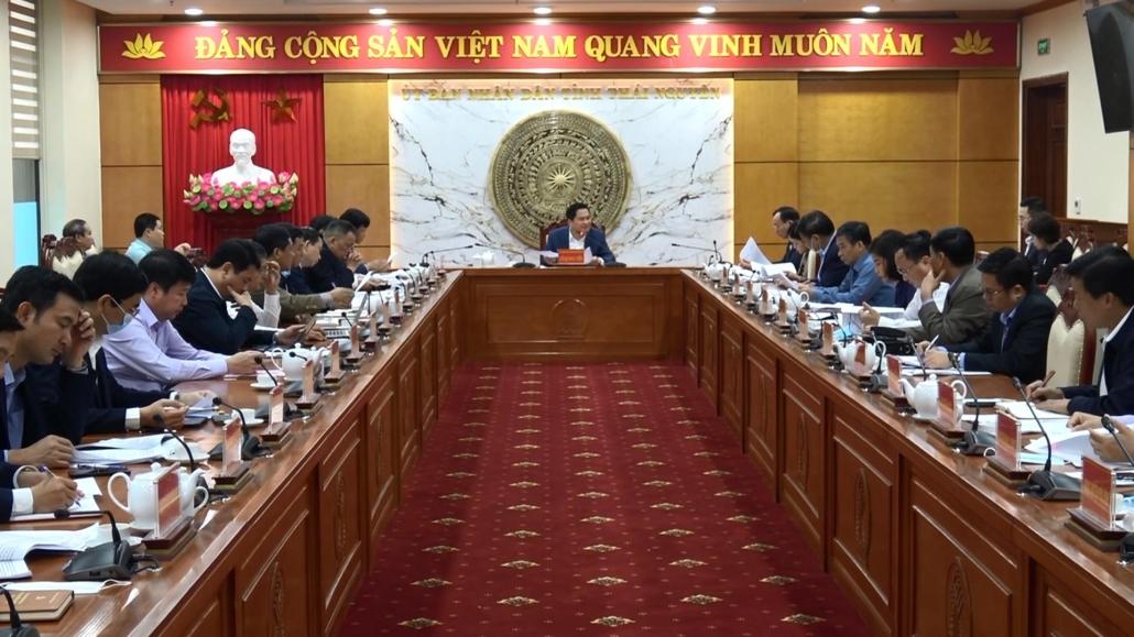 UBND tỉnh Thái Nguyên họp tổ công tác chỉ đạo giải quyết những kiến nghị của cử tri