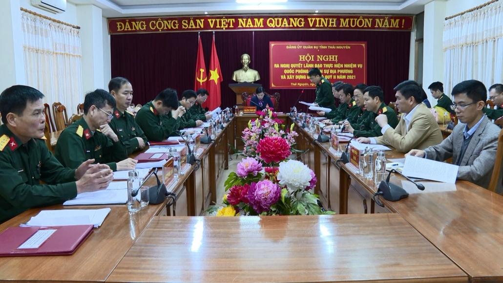 Đảng ủy Quân sự tỉnh hoàn thành tốt nhiệm vụ quý I năm 2021