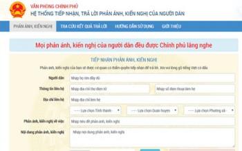 chinh phu mo kenh thong tin tuong tac voi nguoi dan