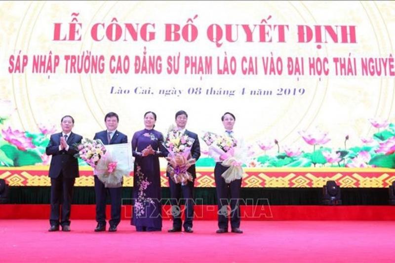sap nhap truong cao dang su pham lao cai vao dai hoc thai nguyen