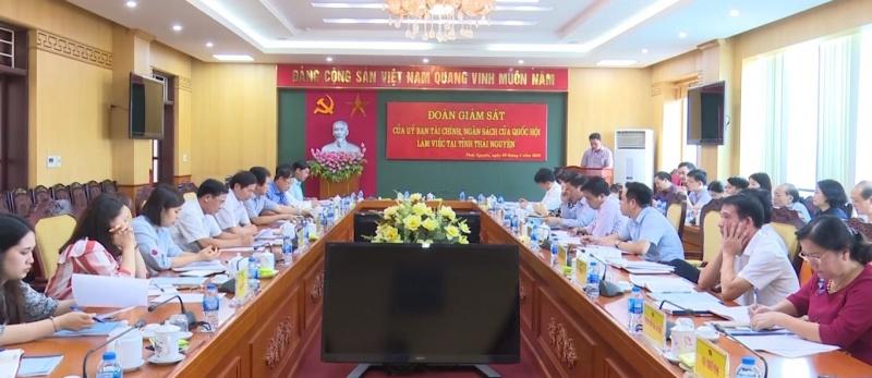 doan giam sat cua uy ban tai chinh ngan sach cua quoc hoi lam viec voi tinh thai nguyen