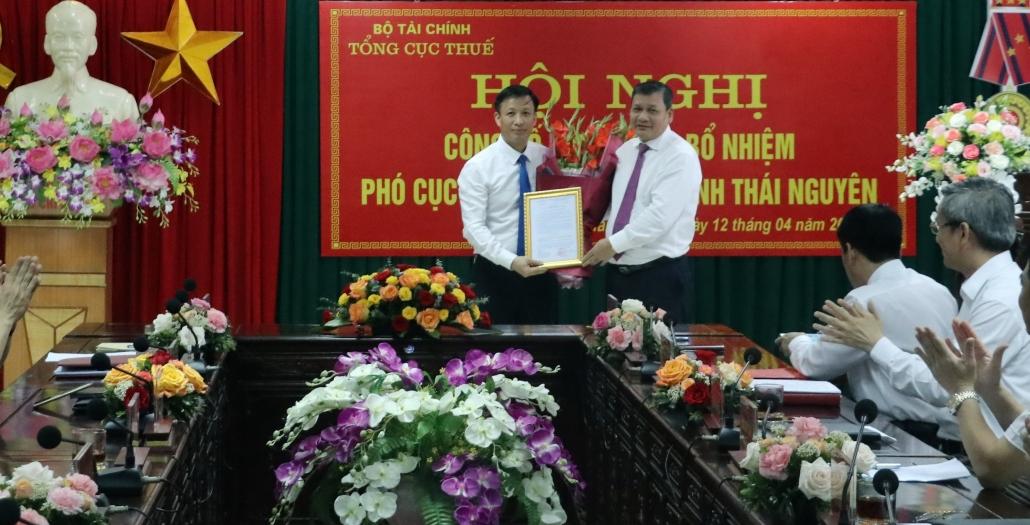 Công bố quyết định bổ nhiệm Phó Cục trưởng Cục Thuế tỉnh Thái Nguyên