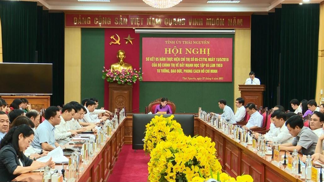Tỉnh ủy Thái Nguyên sơ kết 5 năm thực hiện Chỉ thị 05 của Bộ Chính trị - đã psts 27.4