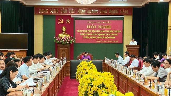 Tỉnh ủy Thái Nguyên sơ kết 5 năm thực hiện Chỉ thị 05 của Bộ Chính trị
