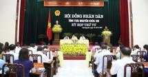 hdnd tinh thai nguyen thao luan cho y kien vao cac bao cao to trinh trinh tai ky hop