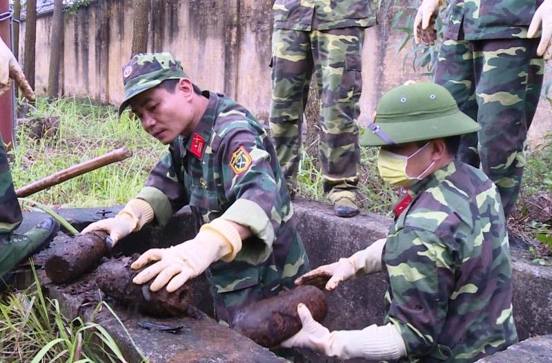 Bộ CHQS tỉnh Thái Nguyên: Thu hồi và xử lý an toàn hơn 2,7 tấn bom đạn, vật liệu nổ
