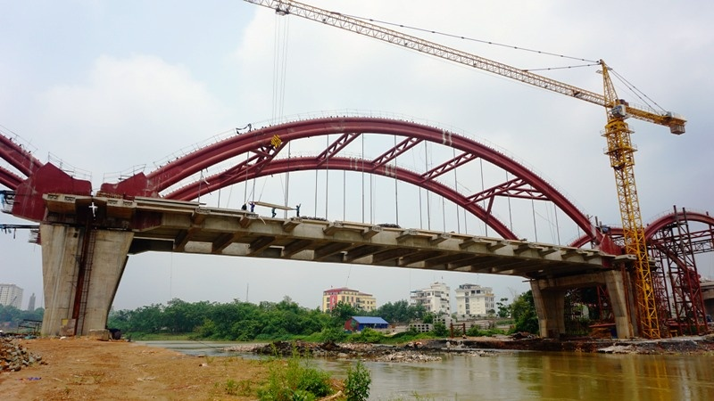 Cầu Bến Tượng thi công đạt khoảng 80% khối lượng dự án