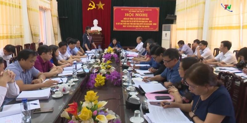 hdnd tinh thai nguyen khao sat cong tac cai cach hanh chinh
