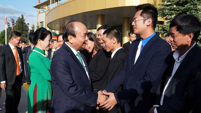 le don chinh thuc thu tuong nguyen xuan phuc tai thu do moscow