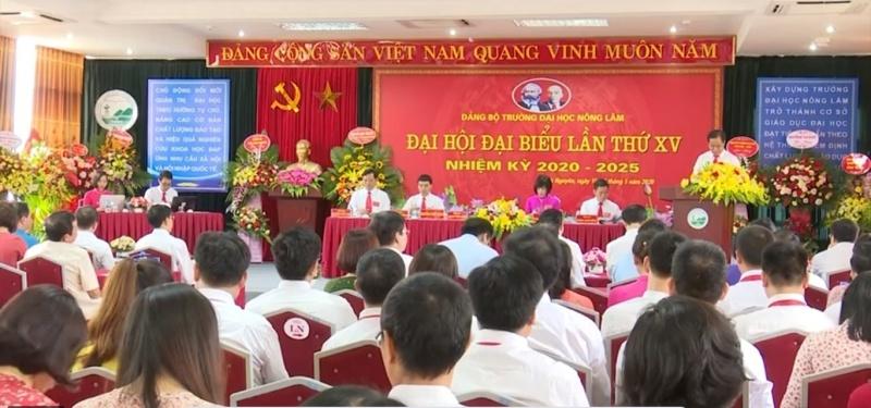 dai hoi dang bo truong dai hoc nong lam lan thu xv nhiem ky 2020 2025