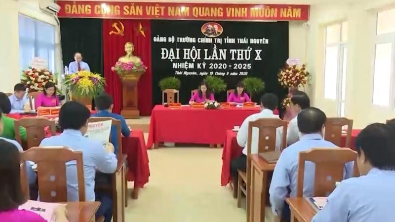 dai hoi dang bo truong chinh tri tinh thai nguyen lan thu x nhiem ky 2020 2025