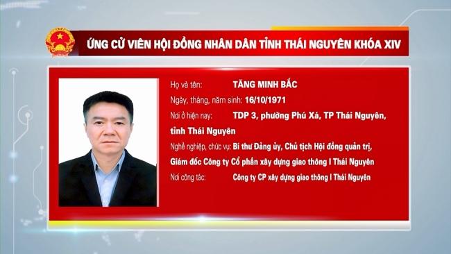 Giới thiệu ứng cử viên đại biểu HĐND tỉnh Thái Nguyên khóa XIV, nhiệm kỳ 2021-2026