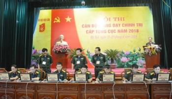 nhieu diem moi tai hoi thi can bo giang day chinh tri tong cuc hau can nam 2018