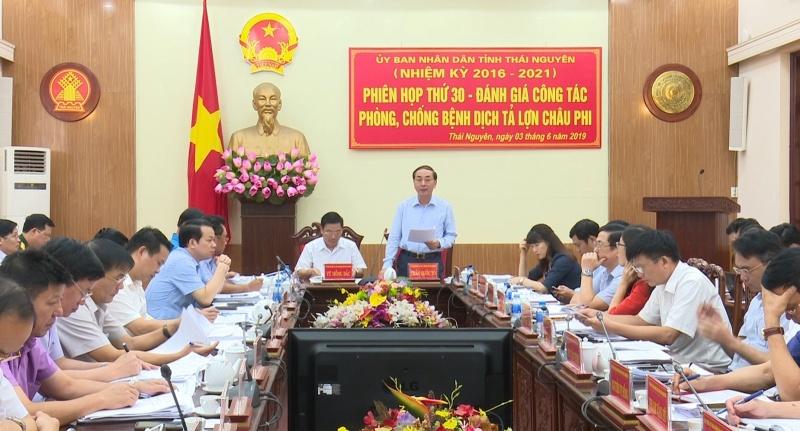 UBND tỉnh Thái Nguyên họp phiên thứ 30 – Đánh giá công tác phòng, chống bệnh dịch tả lợn Châu Phi