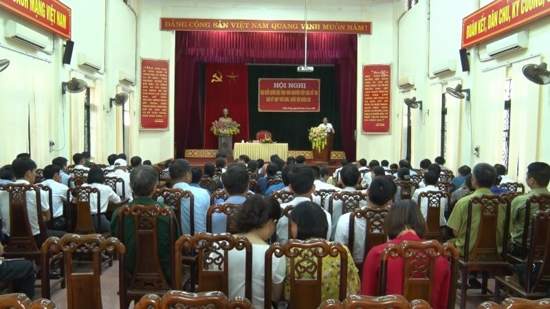 Đoàn đại biểu Quốc hội tỉnh Thái Nguyên tiếp xúc cử tri sau Kỳ họp thứ 9, Quốc hội khóa XIV