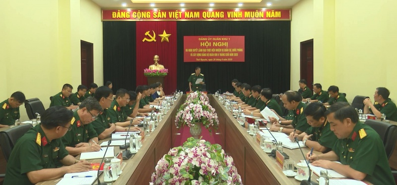 Đảng ủy Quân khu 1: Tập trung lãnh đạo thực hiện toàn diện nhiệm vụ quân sự, quốc phòng