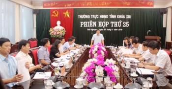 phien hop thu 25 thuong truc hdnd tinh cho y kien vao mot so noi dung quan trong