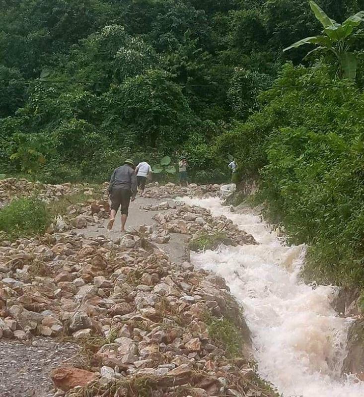 Huyện Võ Nhai: Lũ quét gây sạt lở tại xã Thượng Nung