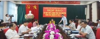 Họp báo về Kỳ họp thứ 9, HĐND tỉnh Thái Nguyên khóa XIII, nhiệm kỳ 2016 - 2021