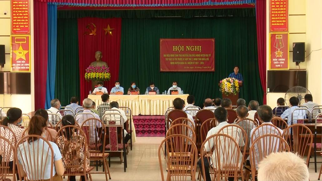 Tiếp xúc cử tri trước Kỳ họp thứ 2, HĐND tỉnh Thái Nguyên khóa XIV