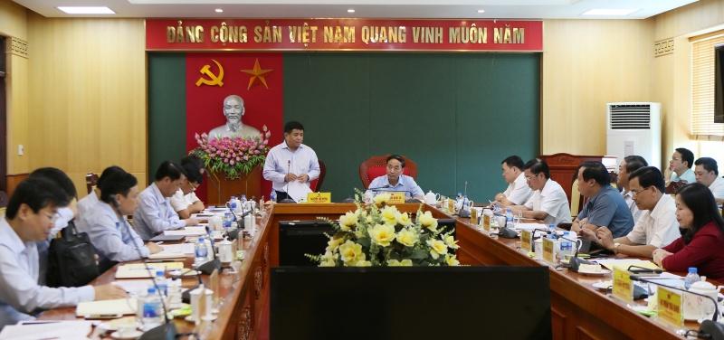 doan cong tac cua bo ke hoach va dau tu lam viec tai tinh thai nguyen