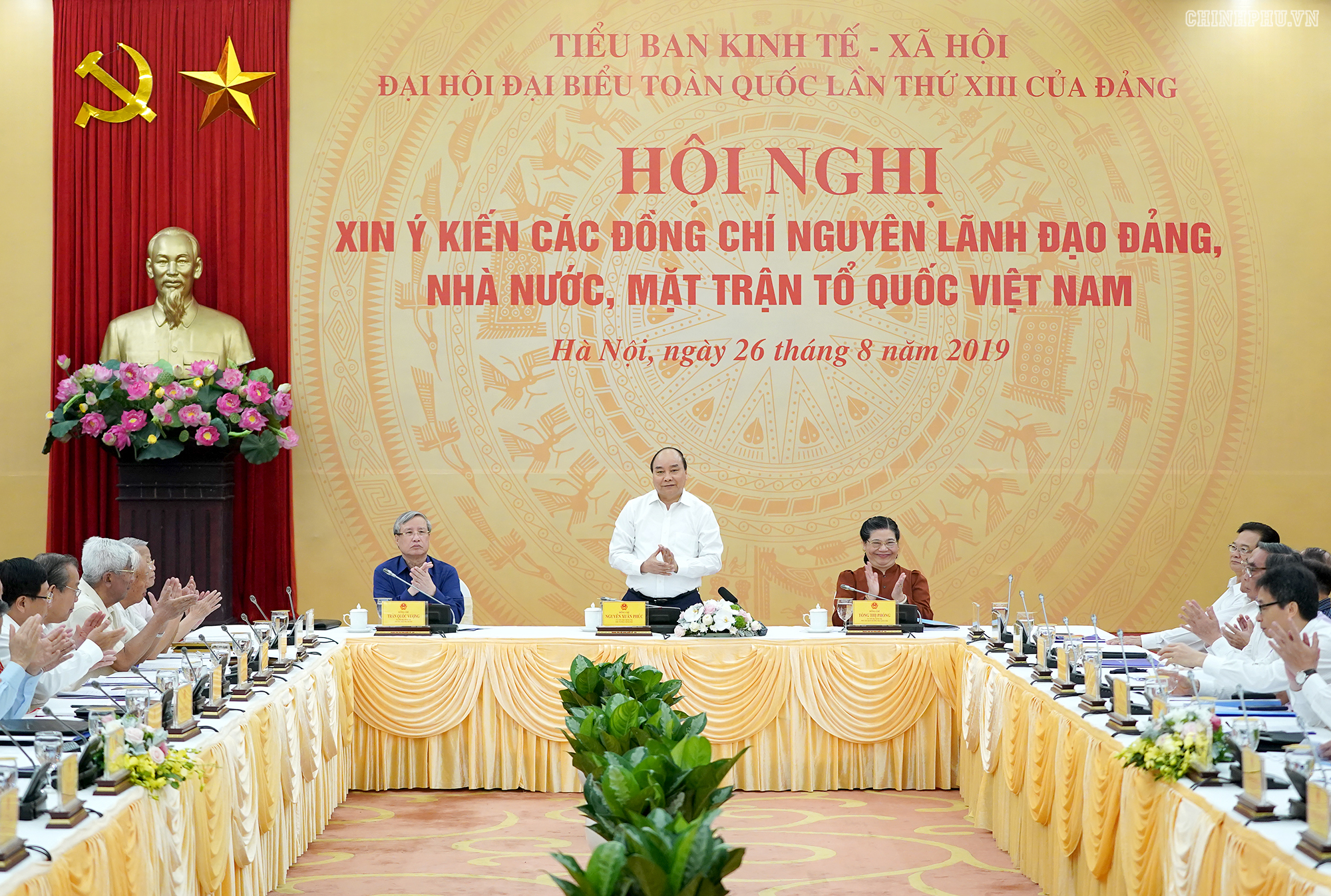thu tuong nghe cac nguyen lanh dao gop y ve chien luoc ktxh