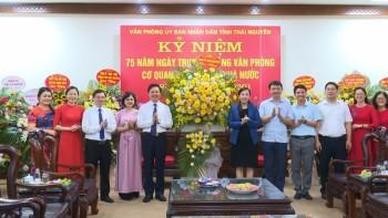 Lãnh đạo tỉnh chúc mừng Ngày truyền thống Văn phòng cơ quan hành chính Nhà nước