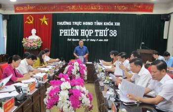 Phiên họp thứ 38 của Thường trực HĐND tỉnh Thái Nguyên