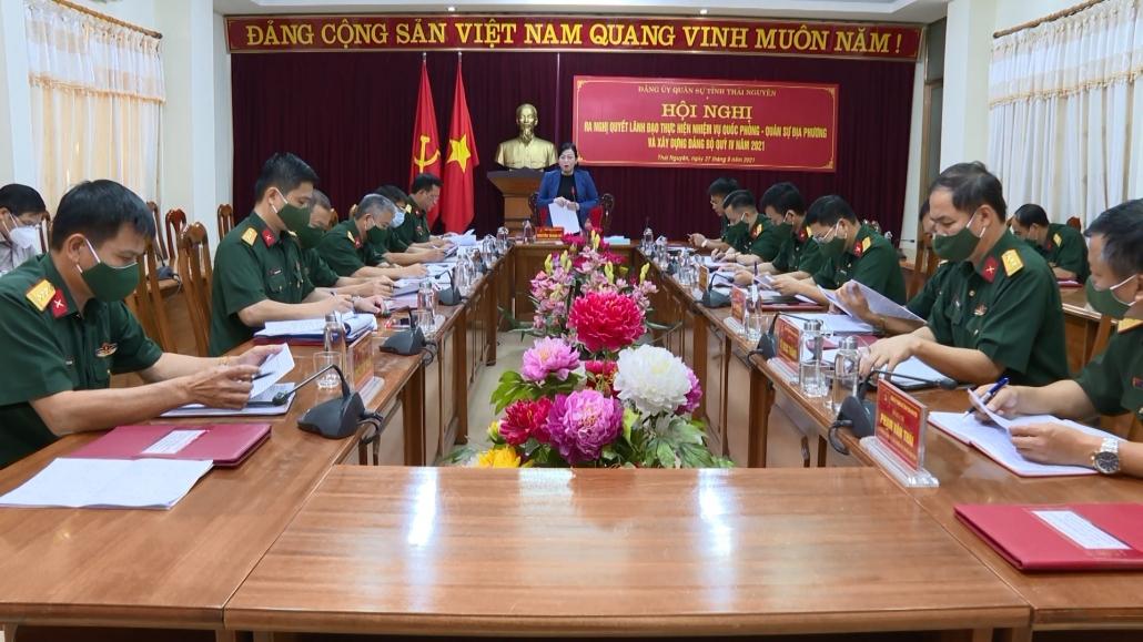 Đảng ủy Quân sự tỉnh ra Nghị quyết lãnh đạo quý IV năm 2021 - đã psts 27.9