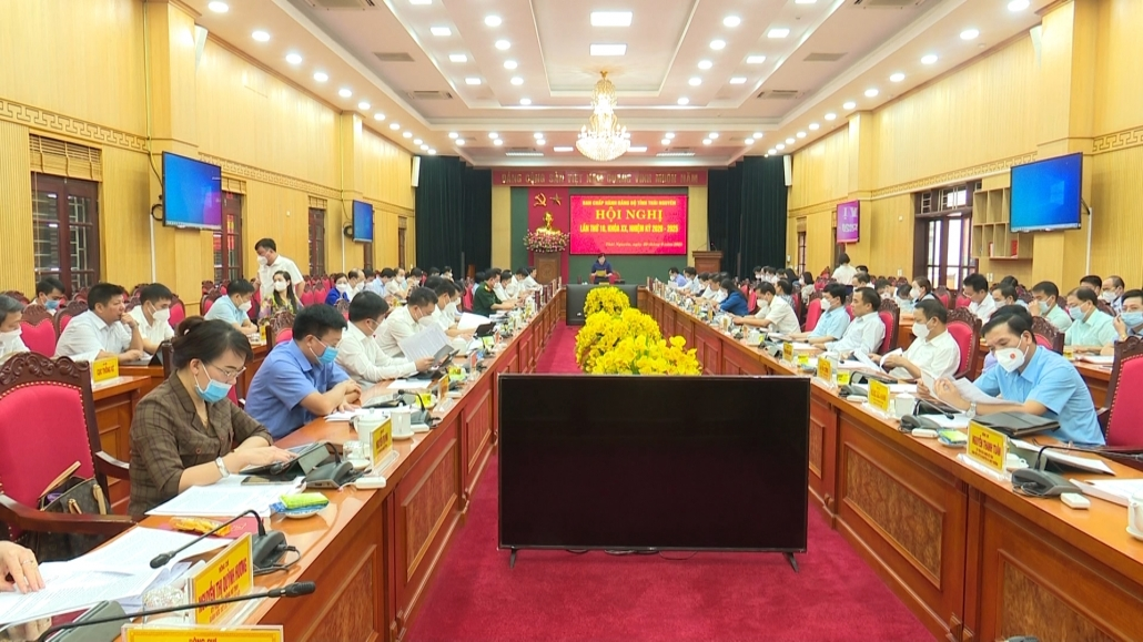Hội nghị lần thứ 10, Ban Chấp hành Đảng bộ tỉnh Thái Nguyên khoá XX, nhiệm kỳ 2020-2025 - đã psts 29.9