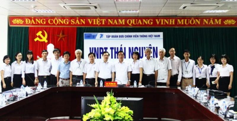 Lãnh đạo UBND tỉnh làm việc với Viễn thông Thái Nguyên
