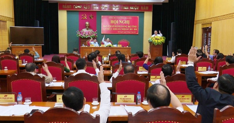 hoi nghi ban chap hanh dang bo tinh thai nguyen lan thu 12