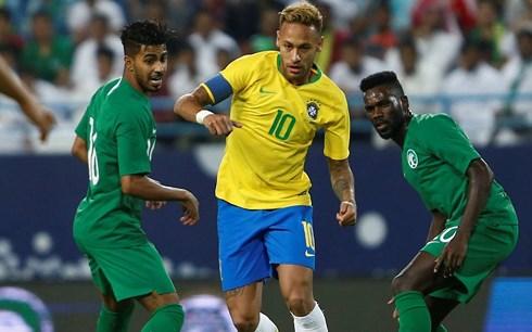 neymar lap cu dup kien tao brazil thang saudi arabia 2 0