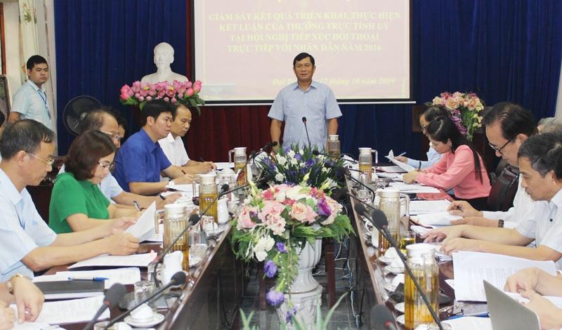Giám sát việc thực hiện kết luận tại các Hội nghị tiếp xúc, đối thoại
