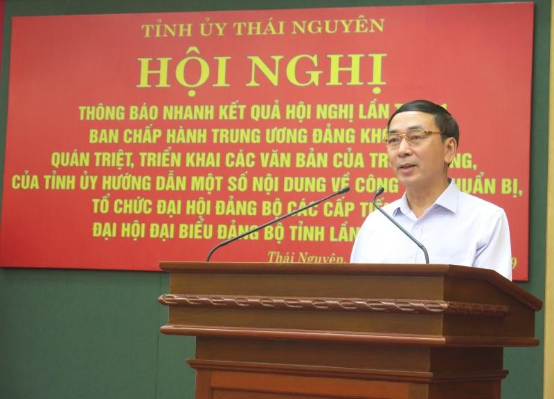 Quán triệt, triển khai các văn bản của Trung ương và Tỉnh ủy Thái Nguyên
