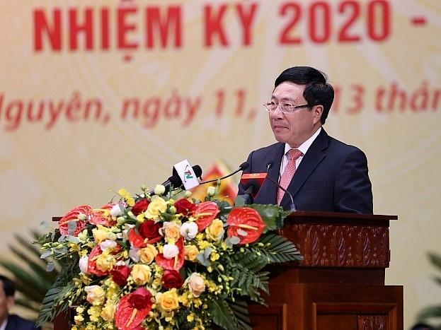 Phát biểu chỉ đạo của đồng chí Phạm Bình Minh tại Đại hội đại biểu Đảng bộ tỉnh Thái Nguyên lần thứ XX