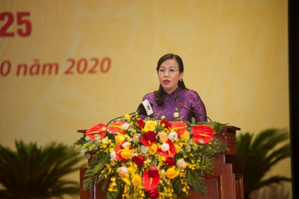 Đồng chí Bí thư Tỉnh ủy Nguyễn Thanh Hải phát biểu bế mạc Đại hội đại biểu Đảng bộ tỉnh Thái Nguyên lần thứ XX