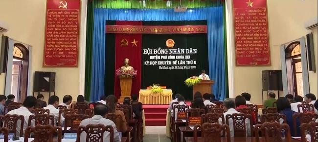 Kỳ họp chuyên đề lần thứ 6, HĐND huyện Phú Bình khóa XIX